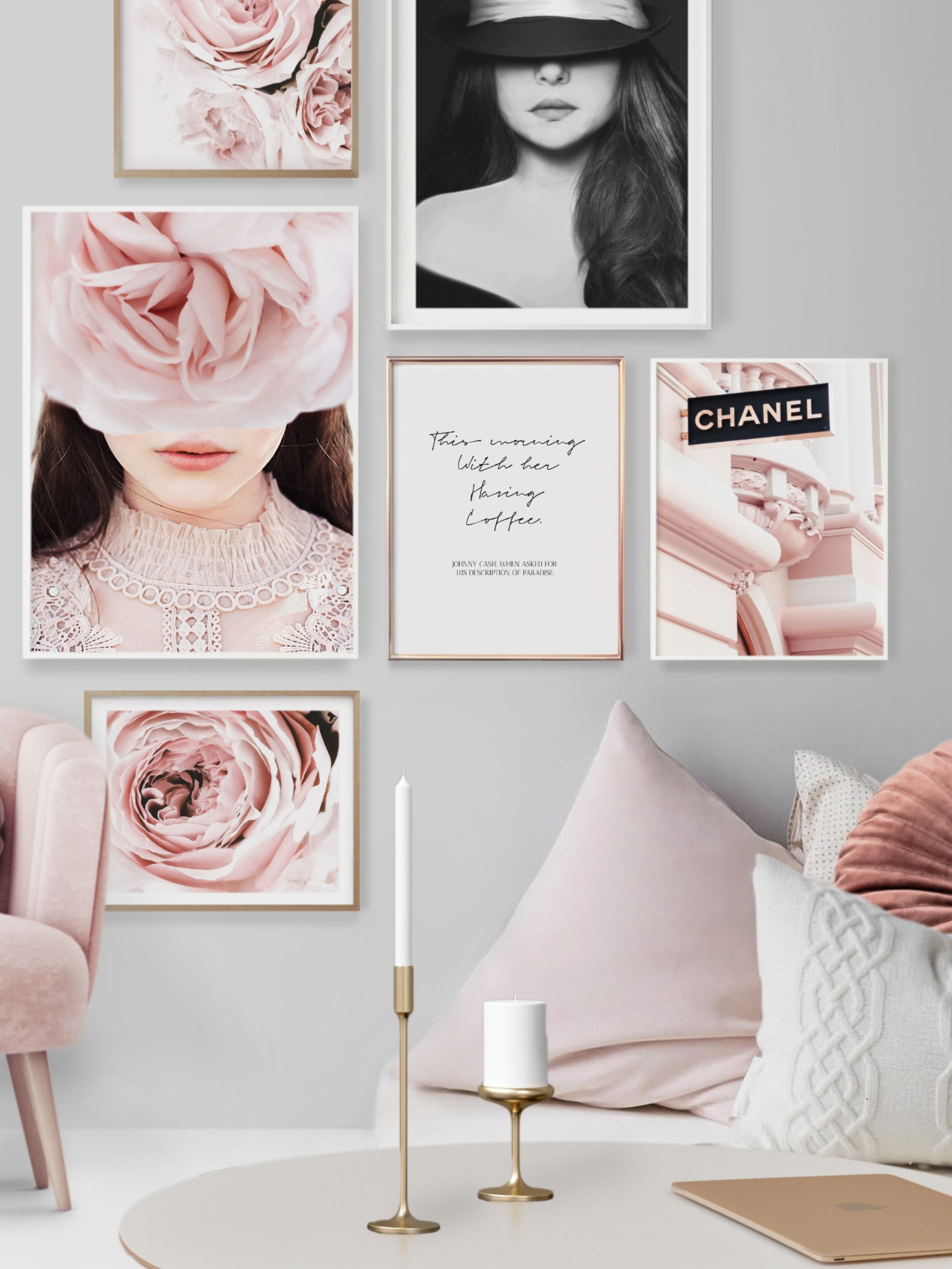 Pink Room Prints Pink And Grey Bedroom Accessories Over Bed Wall Art Pink And Marble Lets Stay In Bed Print Pink Bedroom Poster