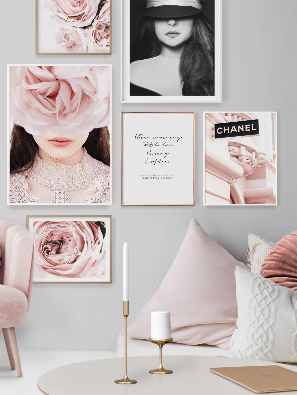 Fashion Poster Pink Wall Art Scandinavian Print Fashion Etsy Pink Wall Art Pink Walls Fashion Wall Art