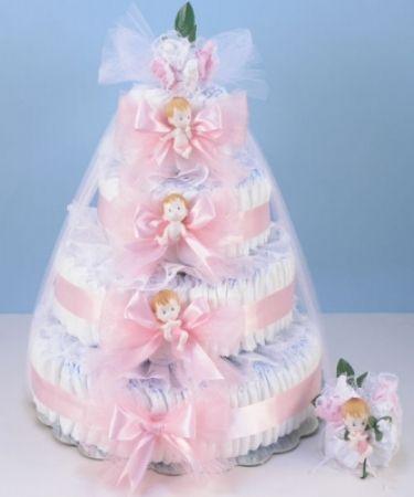 ab0cd10cafda Deluxe diaper cake delight baby girl gift