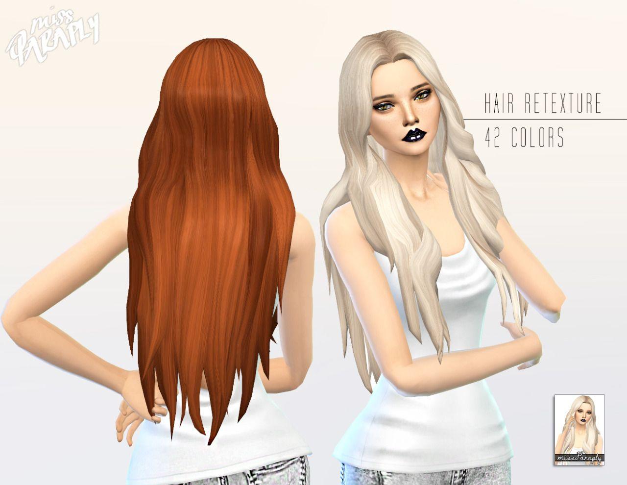 The sims 4 hairstyles cc - Miss Paraply Kiara 24 Mysterious Hairstyle Retextured Sims 4 Hairs Http The Simssims Ccsims