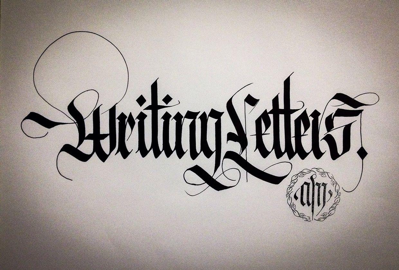 Calligraphy Fraktur Lettering On Behance