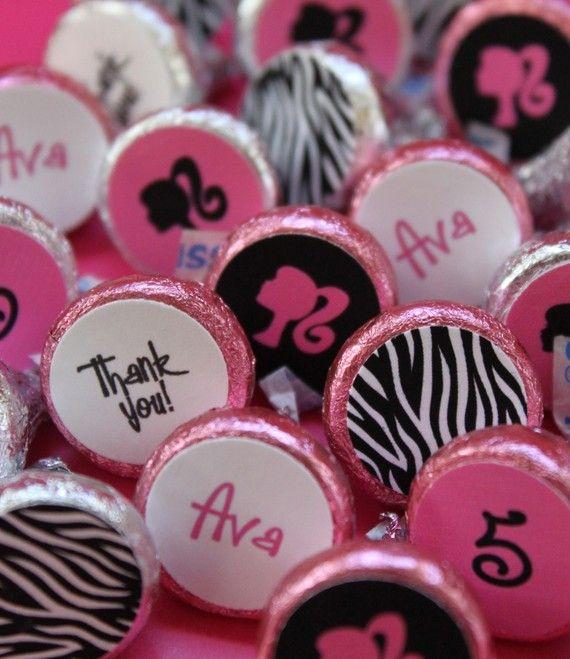 Barbie Zebra Theme 1st And 5th Birthday: Barbie Silhouette Birthday Personalized By