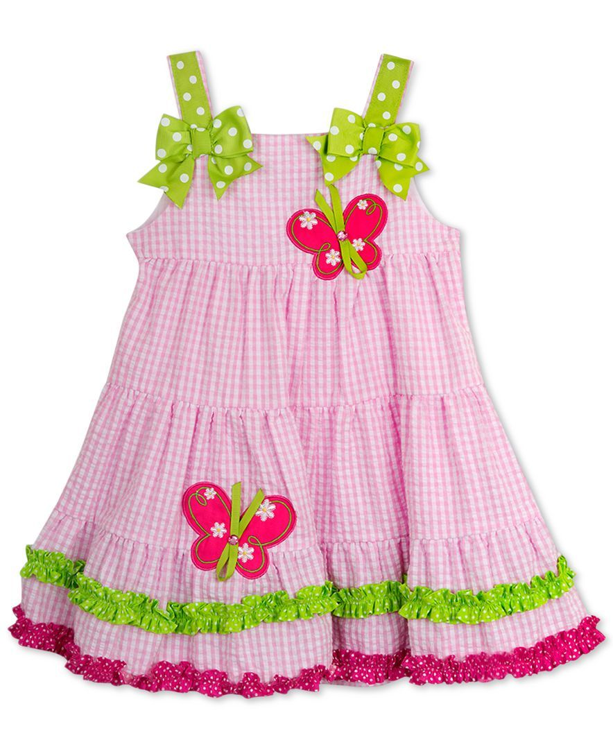 fcbb31e50 Rare Editions Baby Girls' Pink Check Butterfly Dress | Products ...