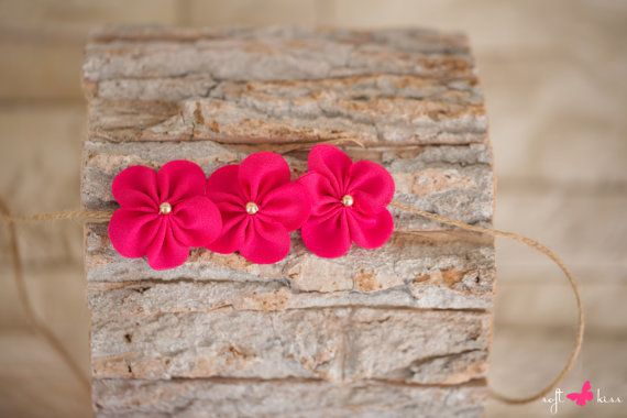 Handmade Newborn Fuchsia Color Chiffon by SoftButterflyKiss