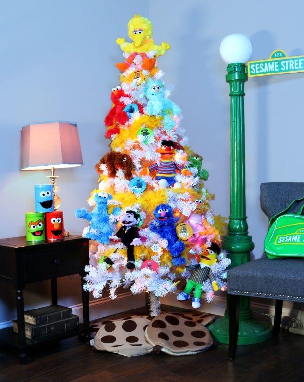 6 Pop Culture Christmas Trees Fun Com Blog Creative Christmas Trees Holiday Christmas Tree Sesame Street Christmas