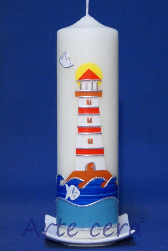 Taufkerze Leuchtturm 25x7 , Kerzen , #284827 - vondir.de ...