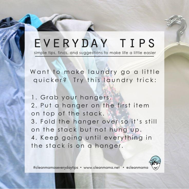 Everyday Tips : Make Laundry Quicker