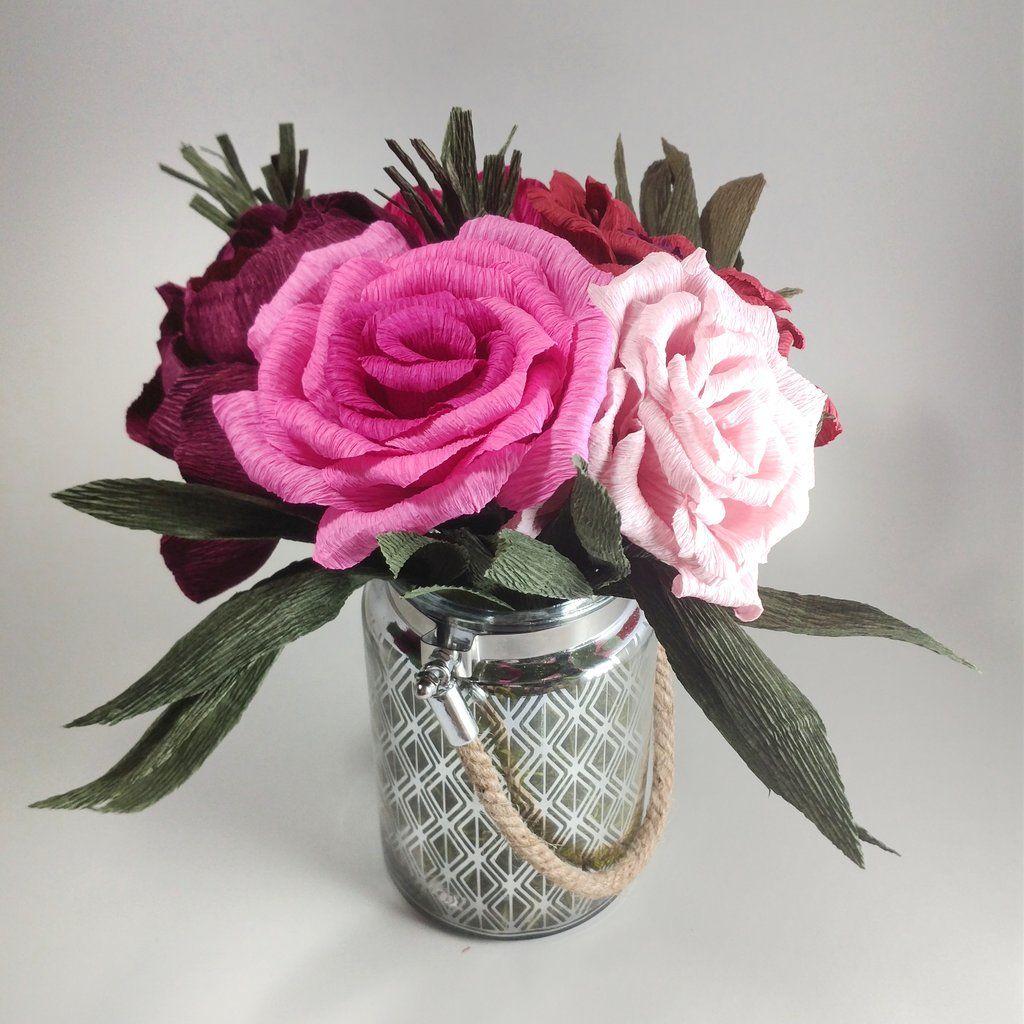Paper Roses With Lantern Hobi Pinterest Paper Roses