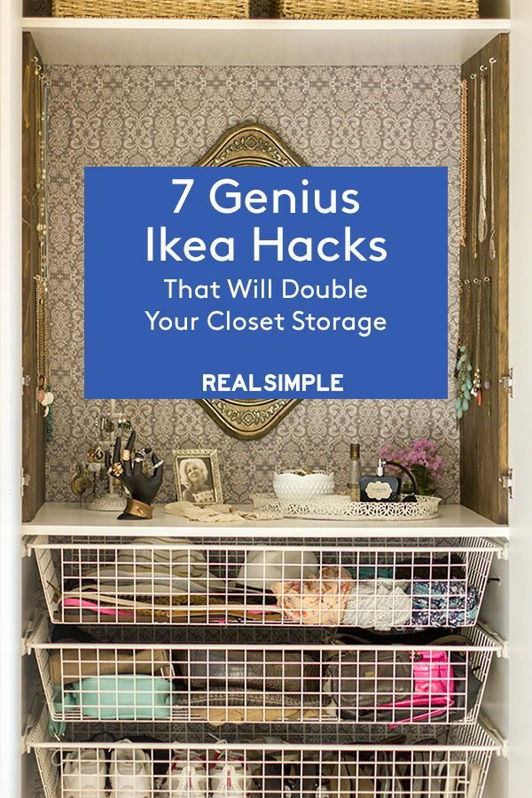 7 Genius Ikea Hacks That Will Double Your Closet Storage  With a little creativ
