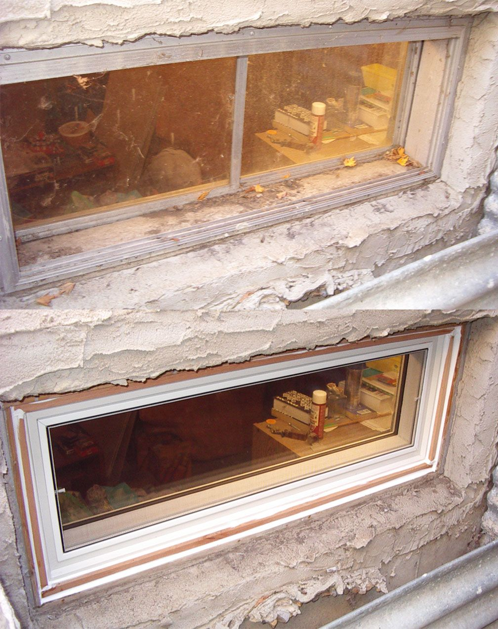 a great example of a basement window replacement basement rh pinterest com basement window glass repair repair concrete around basement window