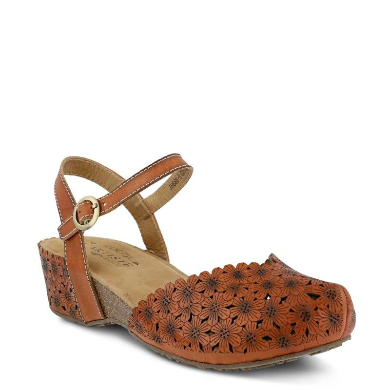 Spring Step Women's Livvy Mary Jane Shoes (Camel Leather) - 41.0 M