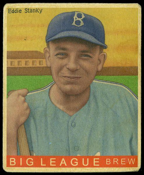 Eddie Stanky Brooklyn Dodgers From Helmar R 319