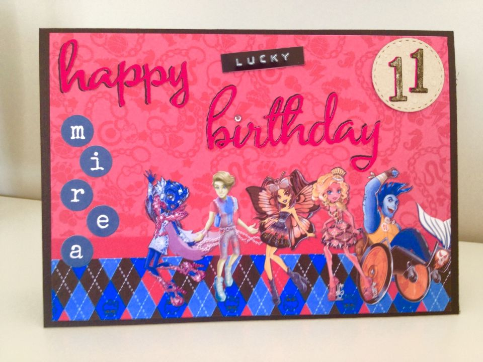 Monster High Birthday Card My Cards Pinterest Monster High