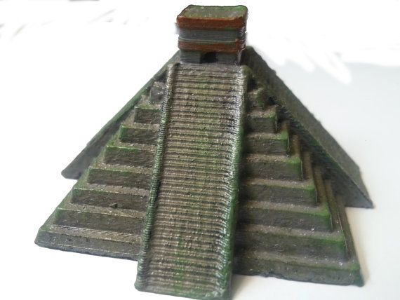 Mayan Temple Models  Chichen Itza  Hand Painted by ZanzibarLand