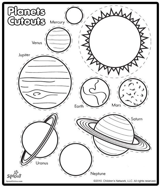 Planet cutouts (from non-english website) | Kids | Learn & Play ...