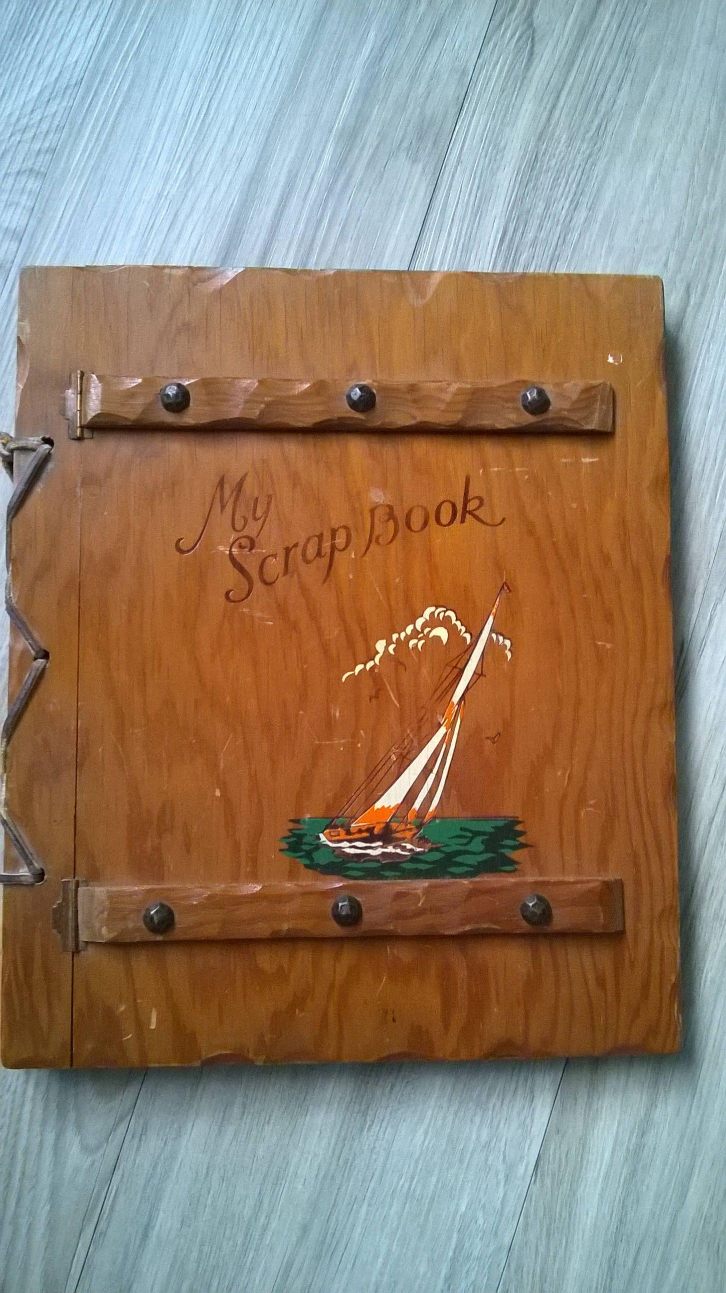 1950s Wooden Scrapbook Curious Vintage Stall Pinterest Scrapbook