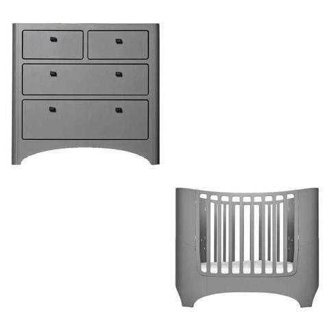 Leander Cot & Dresser Package - Grey   Baby Furniture   Pinterest ...