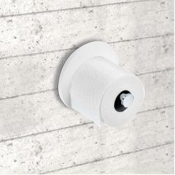 Stone Toilettenpapierhalter weiß-chrom matt Decor WaltherDecor Walther #toiletpaperrolldecor