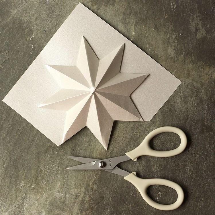 Häufig Fabriquer une étoile de Noël en papier plié en 3D en 50 idées  QR36