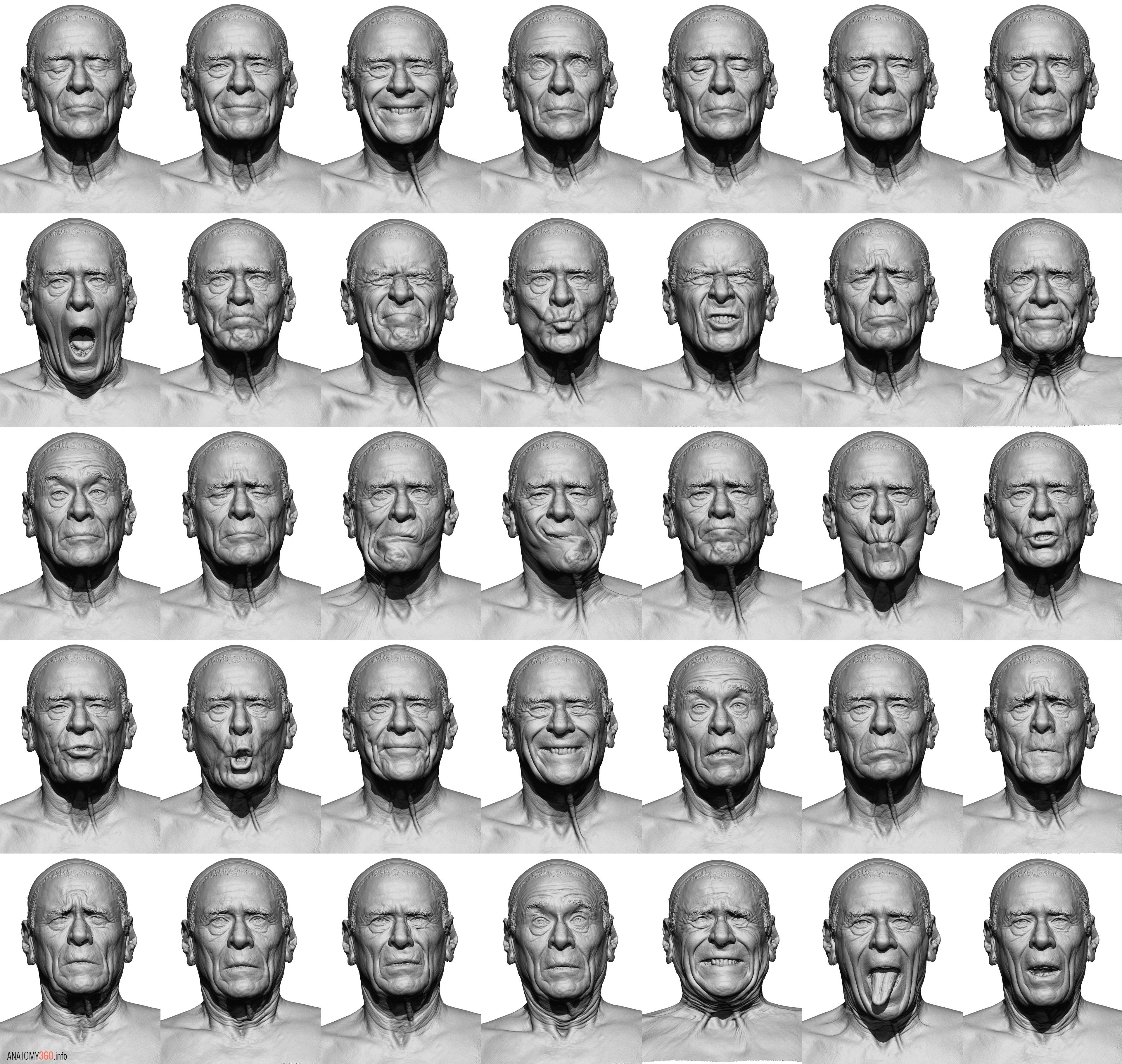 CG scanned facial expressions / phonetics reference http://www ...