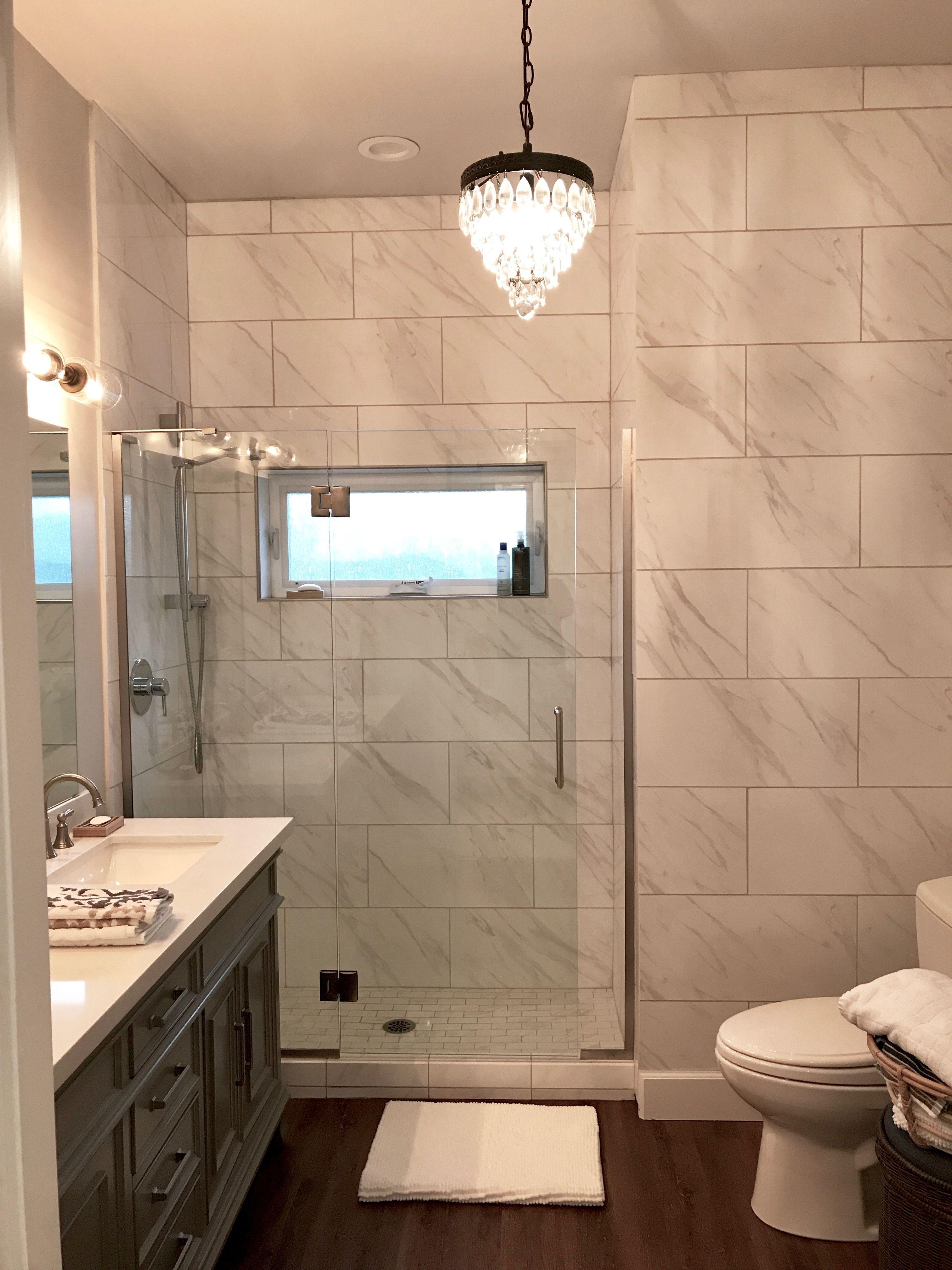1910 Oregon Home Renovation Master Bath Design Floor To Ceiling Ceramic Marble Tile Pendant Bathroom Tile Designs Glass Shower Enclosures Home Depot Toilets
