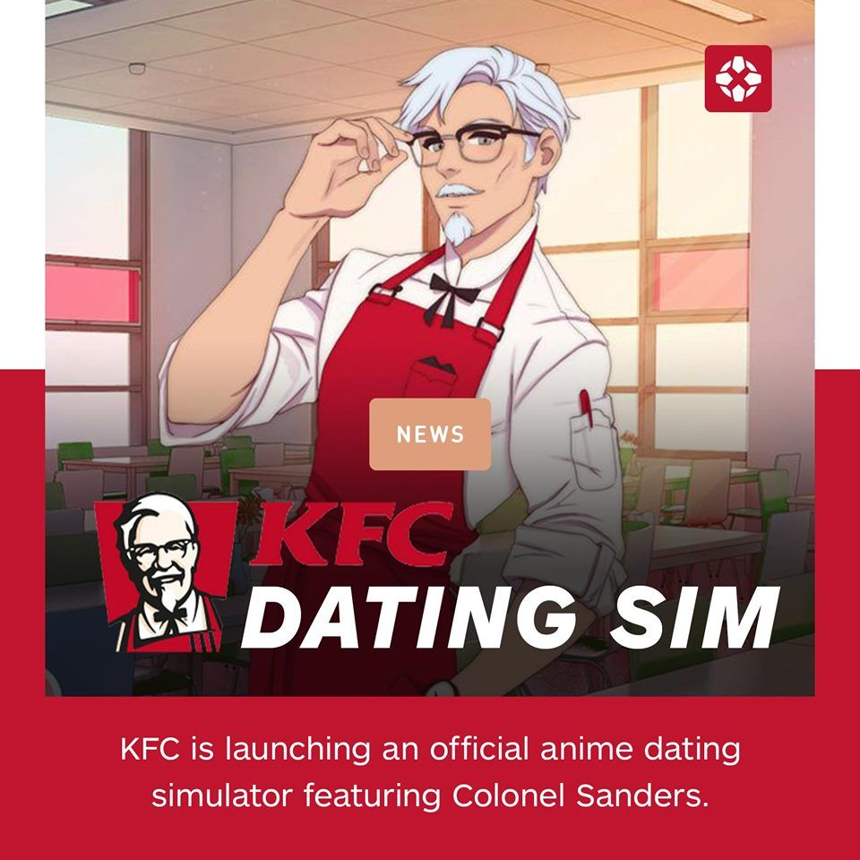 Finally I Ll Find My True Love Via Kentucky Fried Chicken Dating Simulator Anime Memes