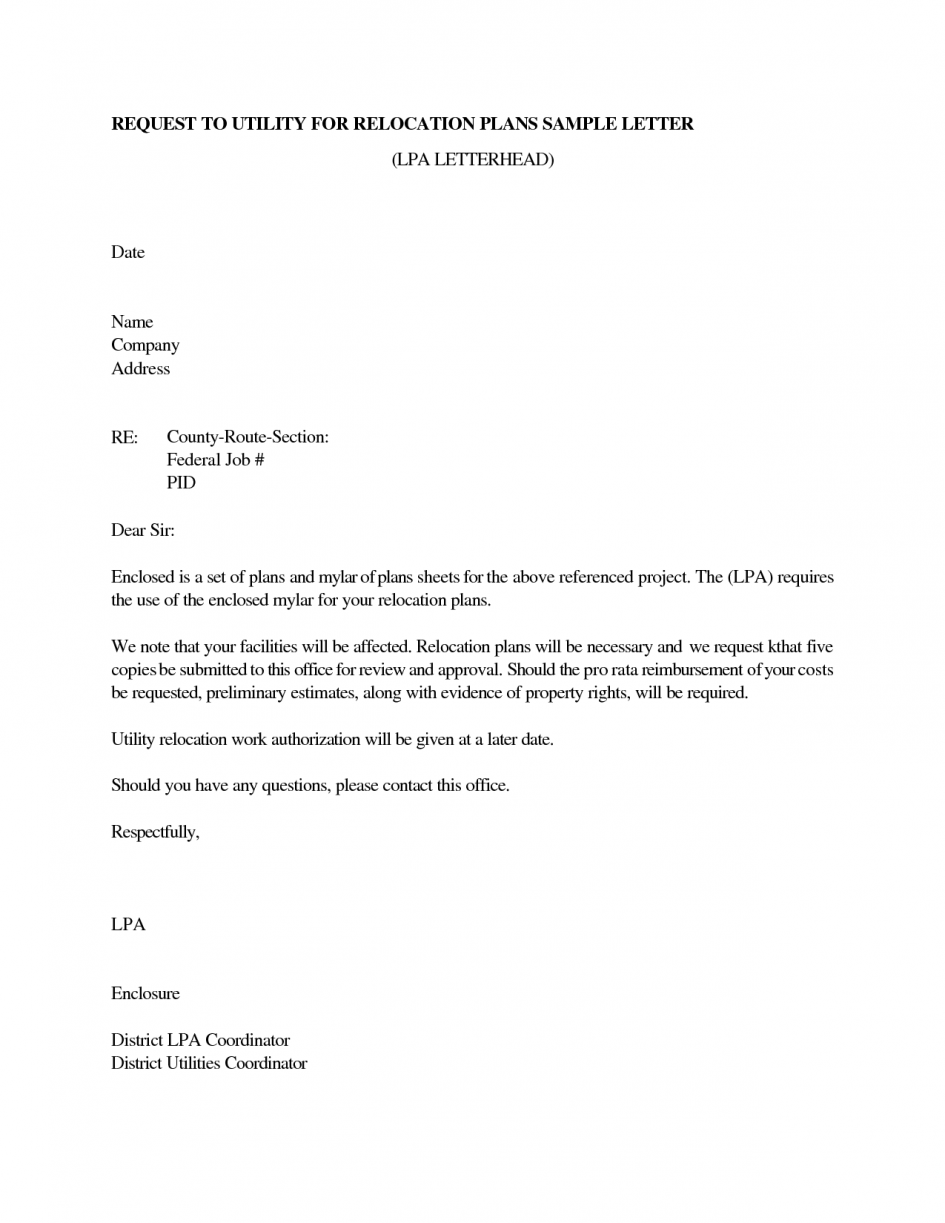 Relocation In Cover Letter Sample