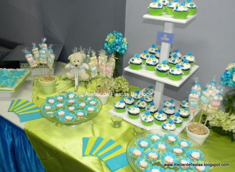 Mesas decoradas para baby shower varon imagui baby for Mesa baby shower nino