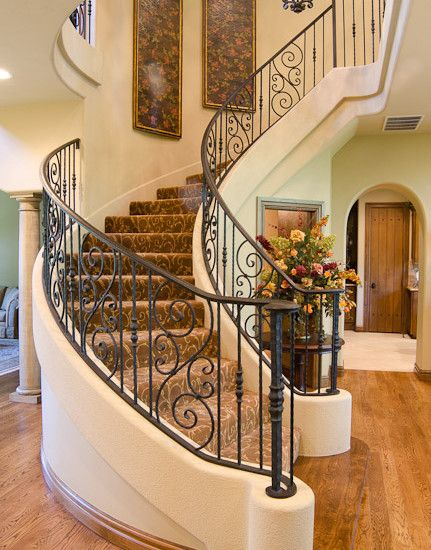 Iron Staircase French Country Country House Decor Iron