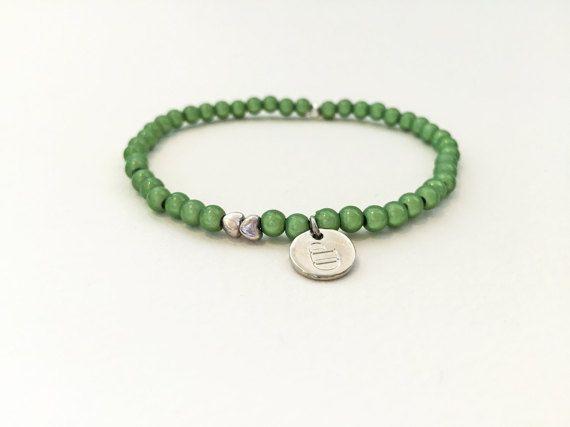 Grün Perlen Armband 4mm-Perlen Minimalistisch Stretch von DPbeanies