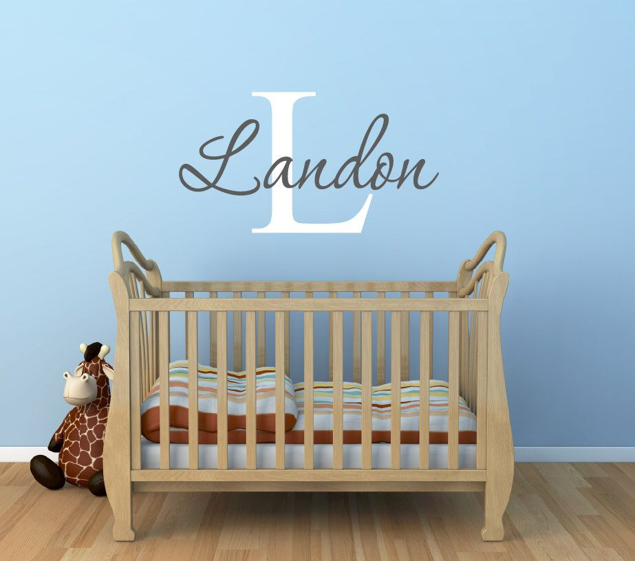 Baby Boy Nursery Name Wall Decals Nursery Wall Decal Baby - Monogram wall decals for nursery