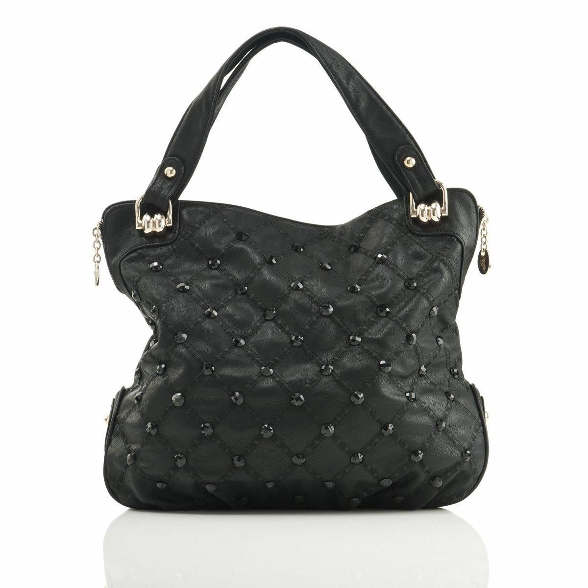 89.99 Polo Villae Black Bead-Studded Handbag from The Shopping Channel 3924750939