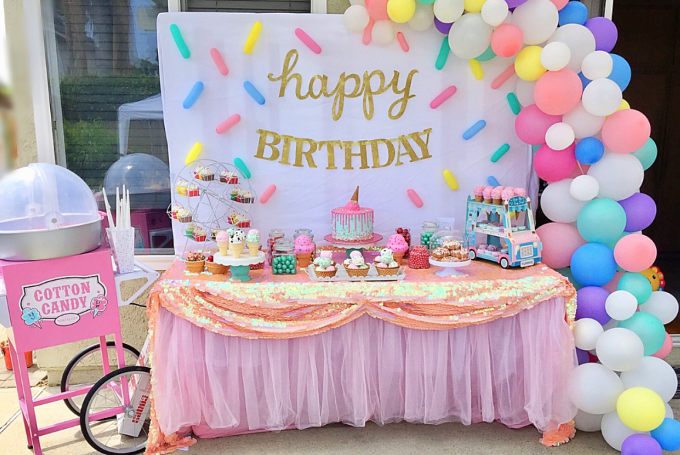 Birthday Parties Are A Big Deal Especially The First Birthday So You Ll Need To Budget For Decorations Food And Cake Every Year Donut Themed Birthday Party Candy Theme Birthday Party