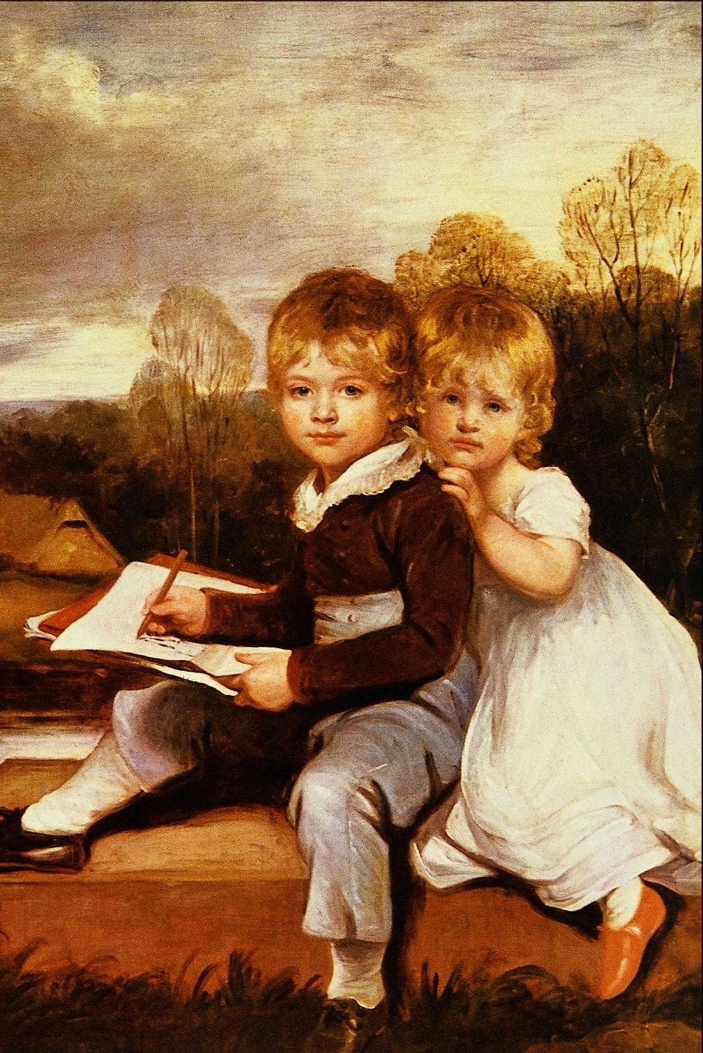 Художественные открытки с детьми, надписью