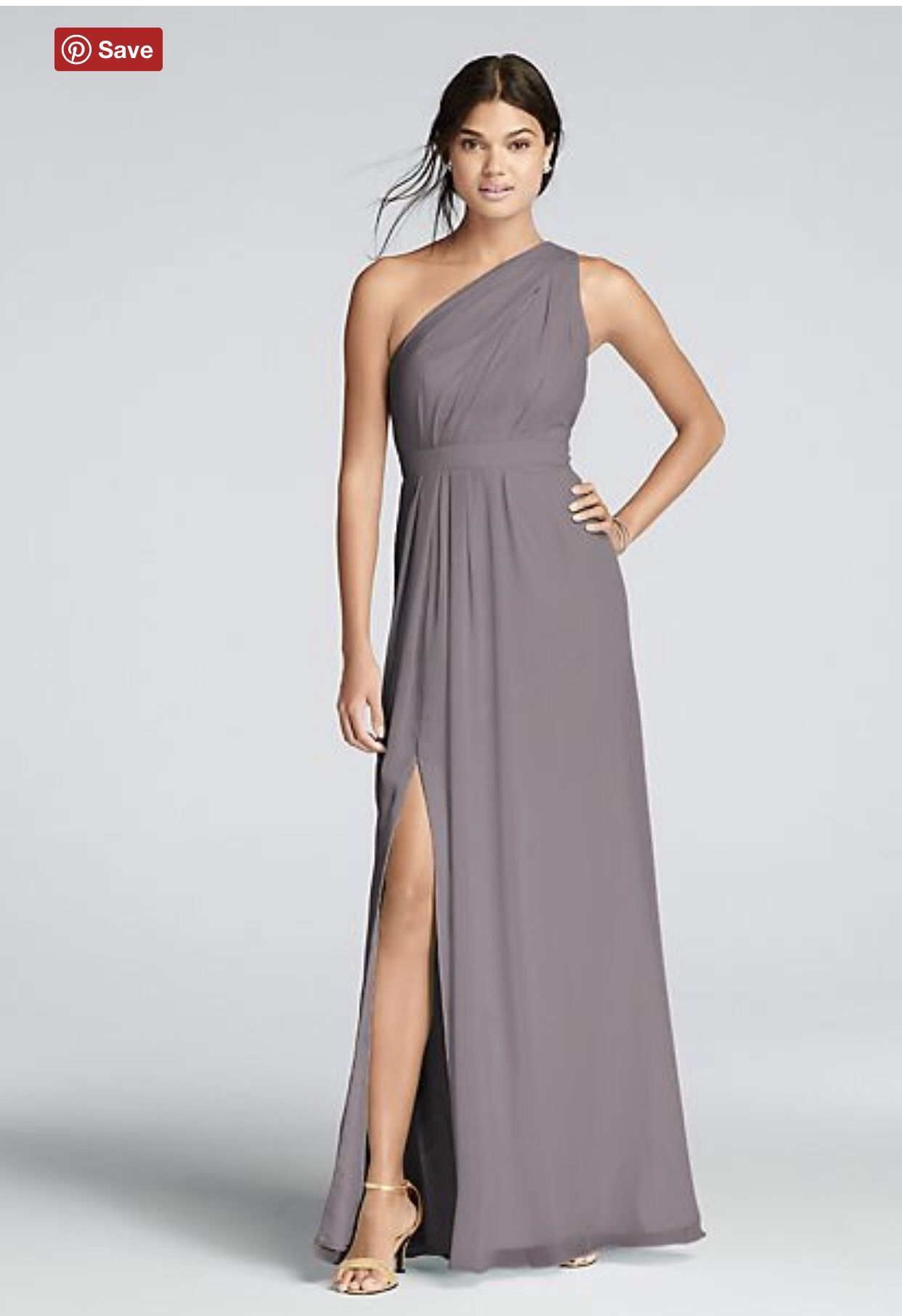 81f28c732e08 Grey One Shoulder Bridesmaid Dress – DACC