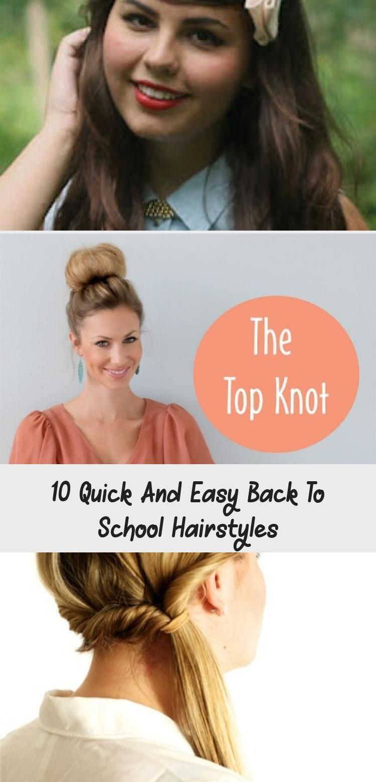 10 quick and easy back to school hairstyles for high school teens and college students. You'll find many different ideas for short, medium, and long hair. Click pin for hair tutorials! #hotbeautyhealth #backtoschoolhair #hairtutorials #hairstyles #easyhairstyles #quickhairstylesForBlackWomen #quickhairstylesForKids #quickhairstylesForChurch #quickhairstylesStepByStep #quickhairstylesBraids #loose Braids on top of head 10 Quick And Easy Back To School Hairstyles #loosebraids 10 quick and easy bac