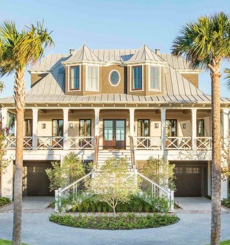Lovely 20 Cottage Style Landscaping Ideas To Enhance Your: Isle Of Palms Beach House Tour