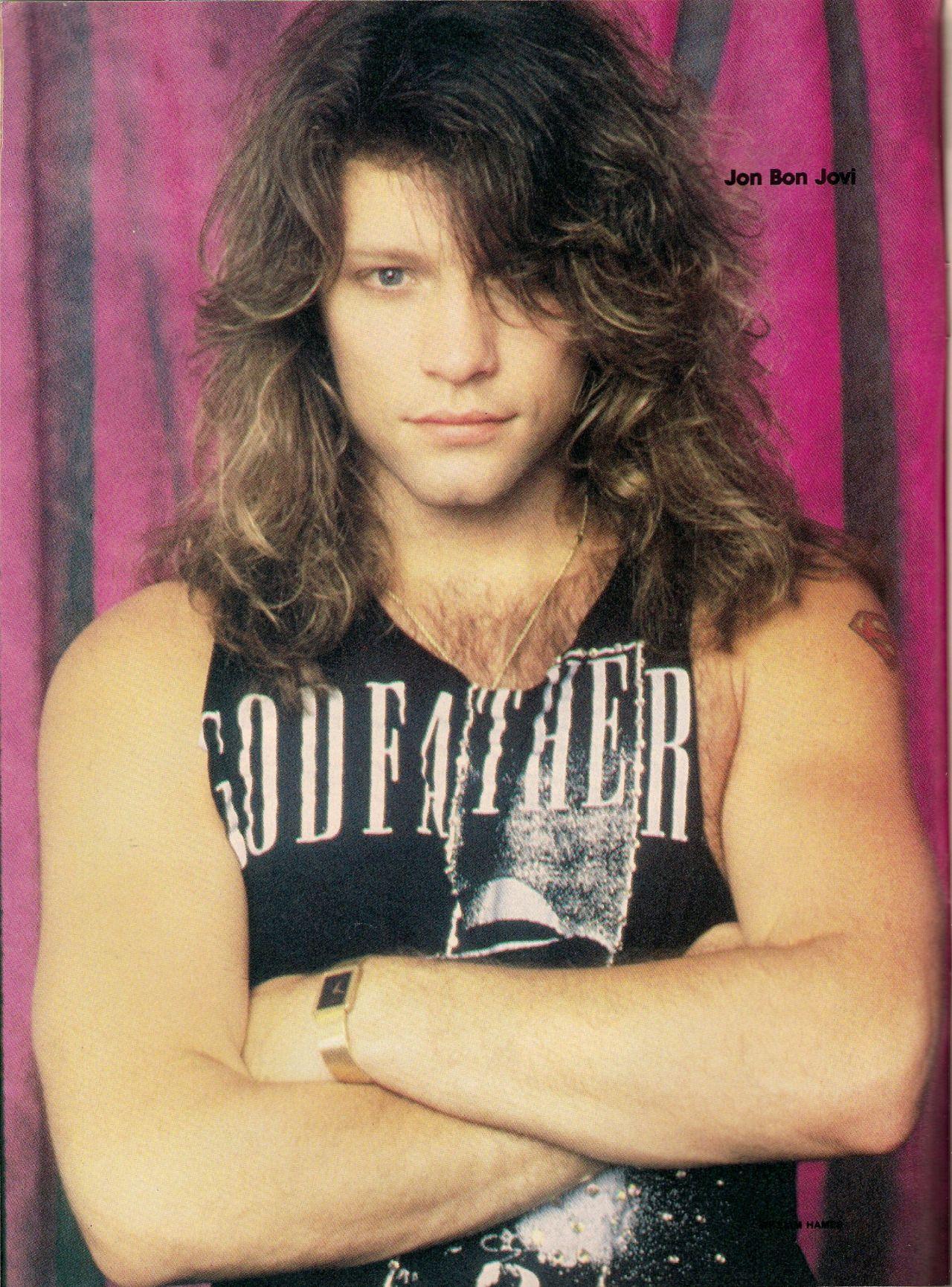 Jon Bon Jovi 80s Hair Www Pixshark Com Images