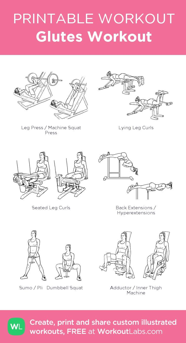 Glutes workout my visual workout created at workoutlabs