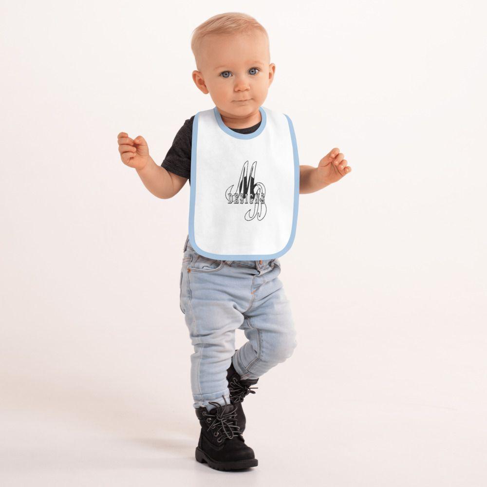 Embroidered Baby Bib From Mahogany Bleu Designs