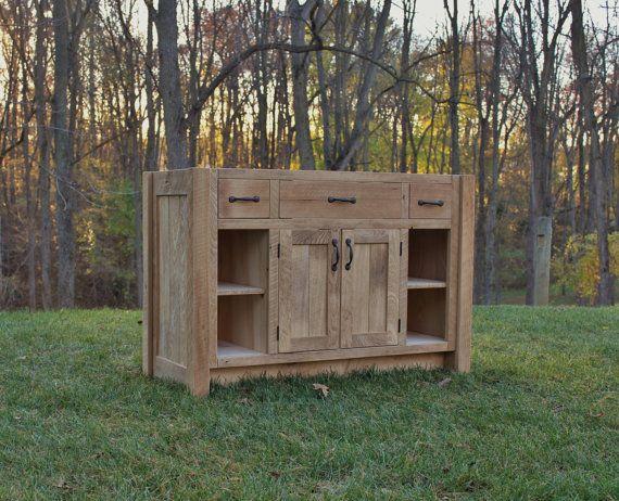 Rustic Bathroom Vanity 48 Reclaimed Barn Wood W Paneled Doors 1901 Rustic Vanity Primitive Bathrooms