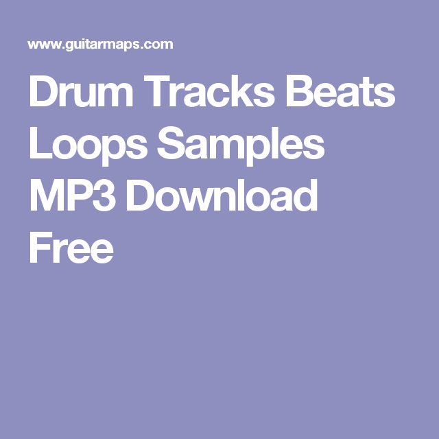 Drum Tracks Beats Loops Samples MP3 Download Free | ardour