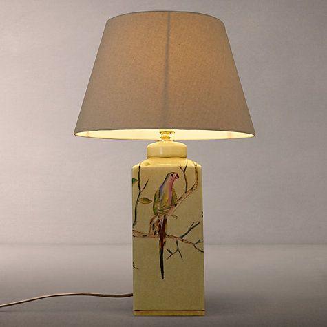 India Jane Parrot Ceramic Lamp Base Green H33cm