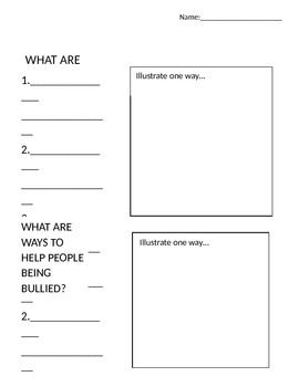 Bullying Worksheet   Second Grade   Bullying worksheets ...