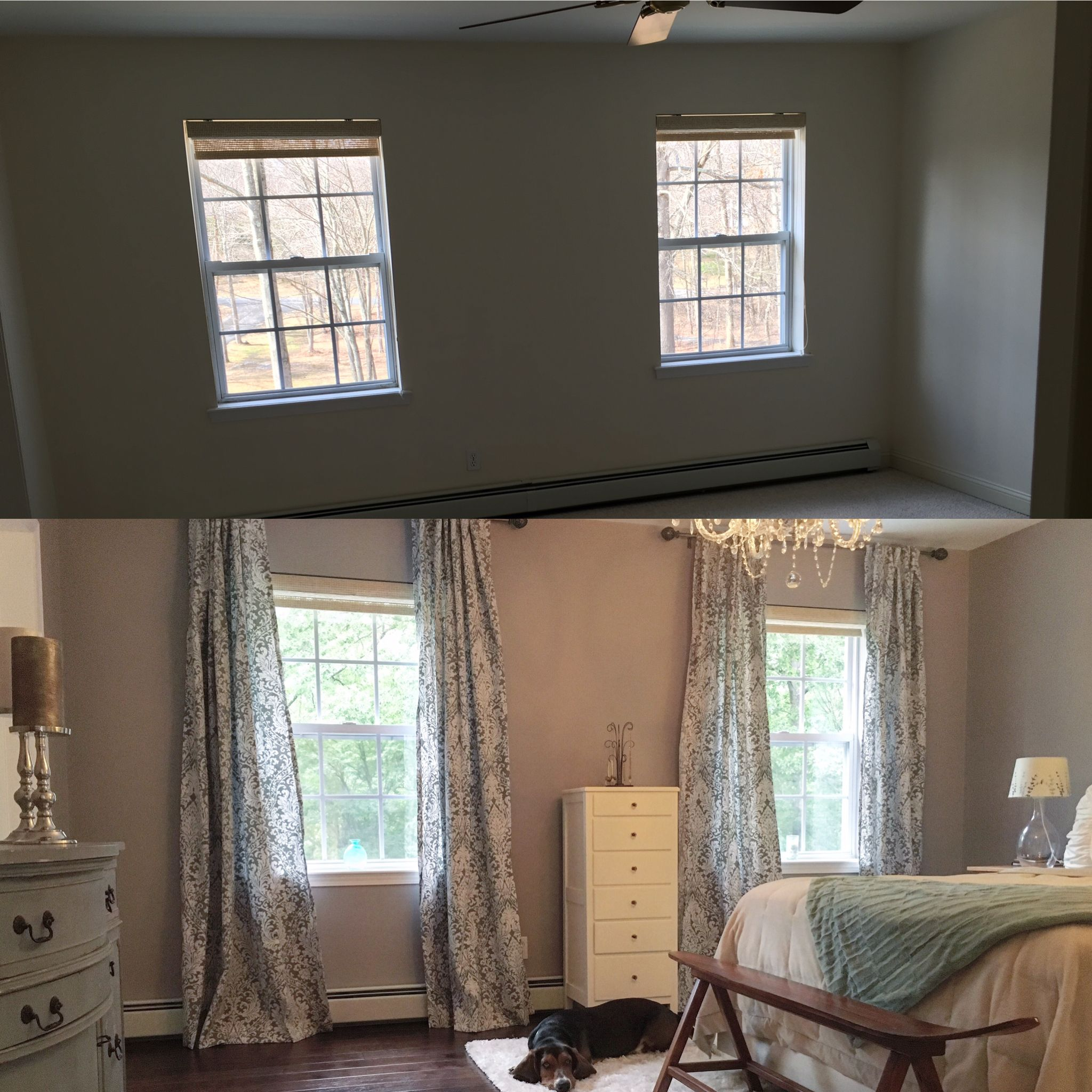Master bedroom hardwood floors  Before and after master bedroom hardwood floors curtains lavender