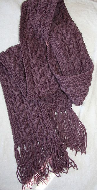Reversible Cable Scarf  50368 pattern by Lion Brand Yarn  f8508647ff2a0