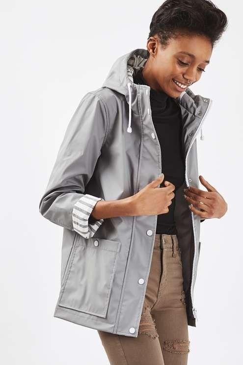 Women's Matte Yellow Rubberised Hooded Rain Mac Retro Ladies Waterproof Jacket C