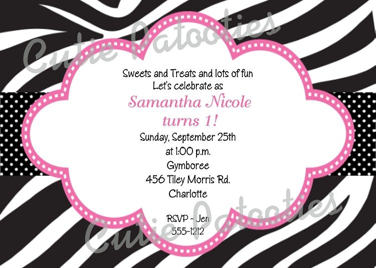 Download Free Printable Zebra Print Birthday Invitations Download – Leopard Print Birthday Cards
