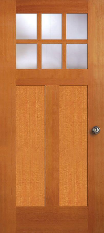 Exterior Solid Douglas Fir 6 Lite Two Panel Bottom Shaker Shaker Doors Interior Exterior Doors Store Door
