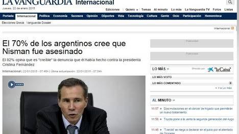 Caso Nisman: un diario llama a EE.UU. a aislar a los líderes argentinos